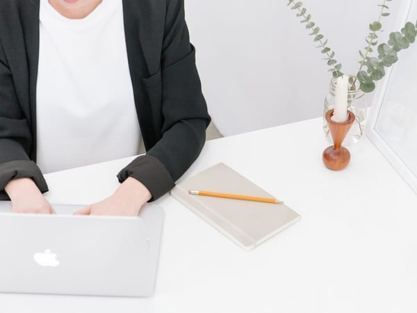 person using a laptop to learn more about Rogue Marketing Pros